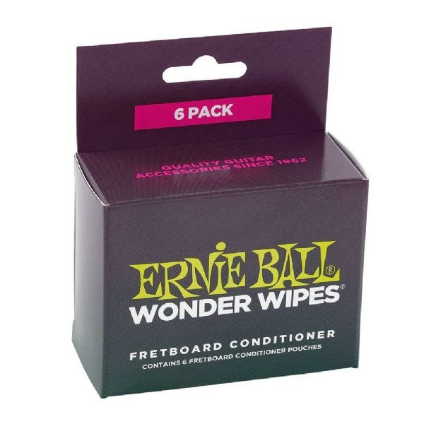 Ernie Ball Wonder Wipe Guitar Fretboard Conditioner (Pack of 6) - 4276